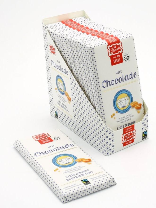 Chocoladereep met babbelaar melk
