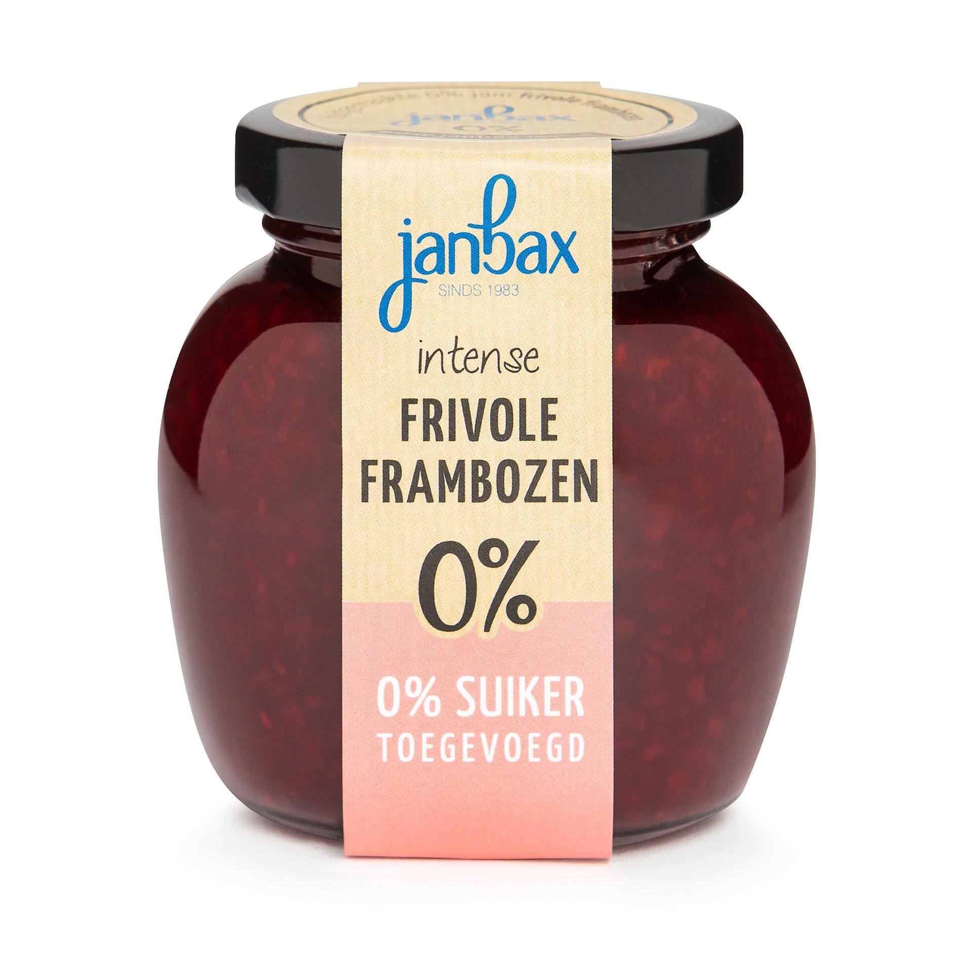 Intense 0% jam frambozen zonder toegevoegd suiker