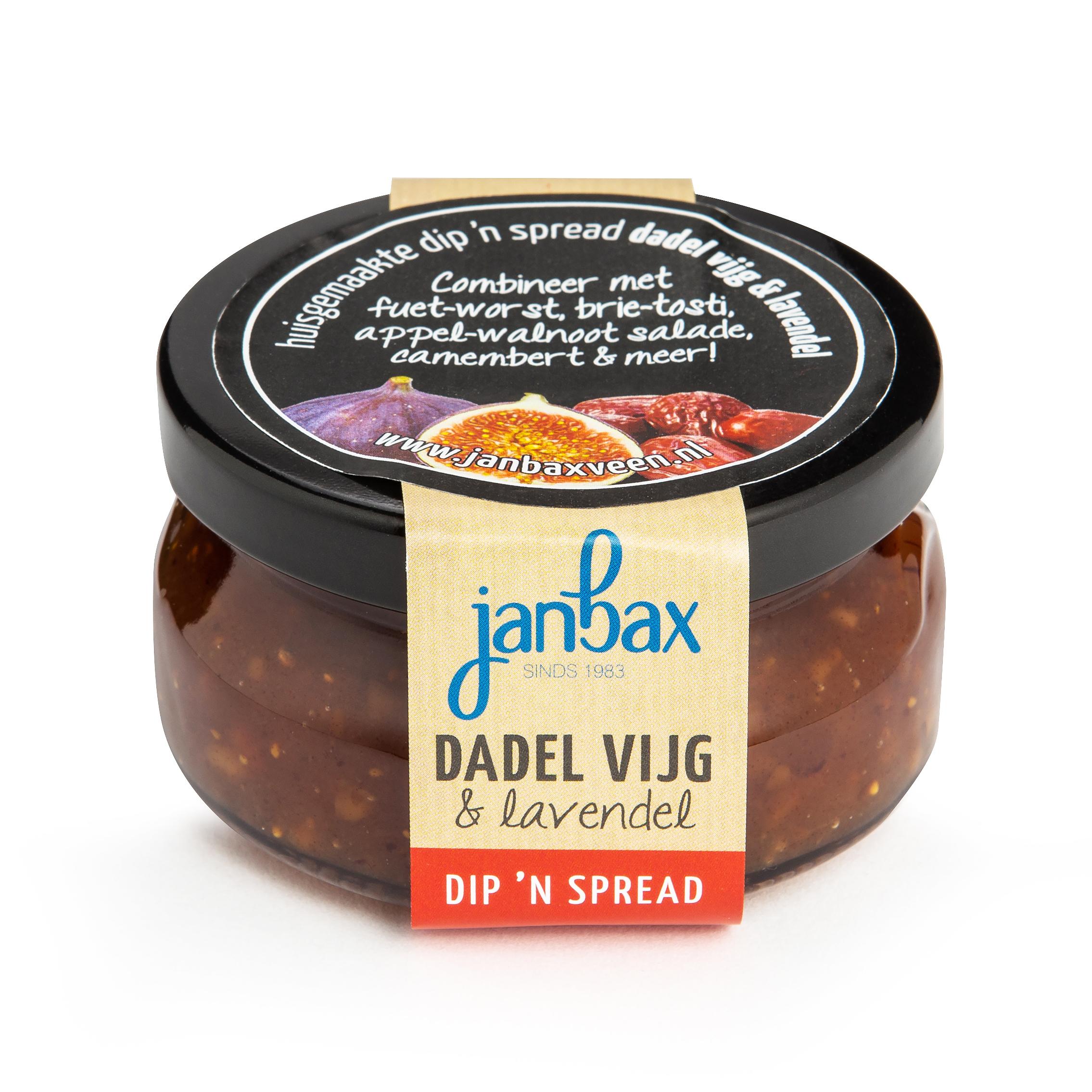 Dip'n spread dadel-vijg met lavendel
