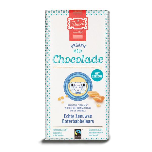 Chocoladereep met babbelaar en zeezout melk