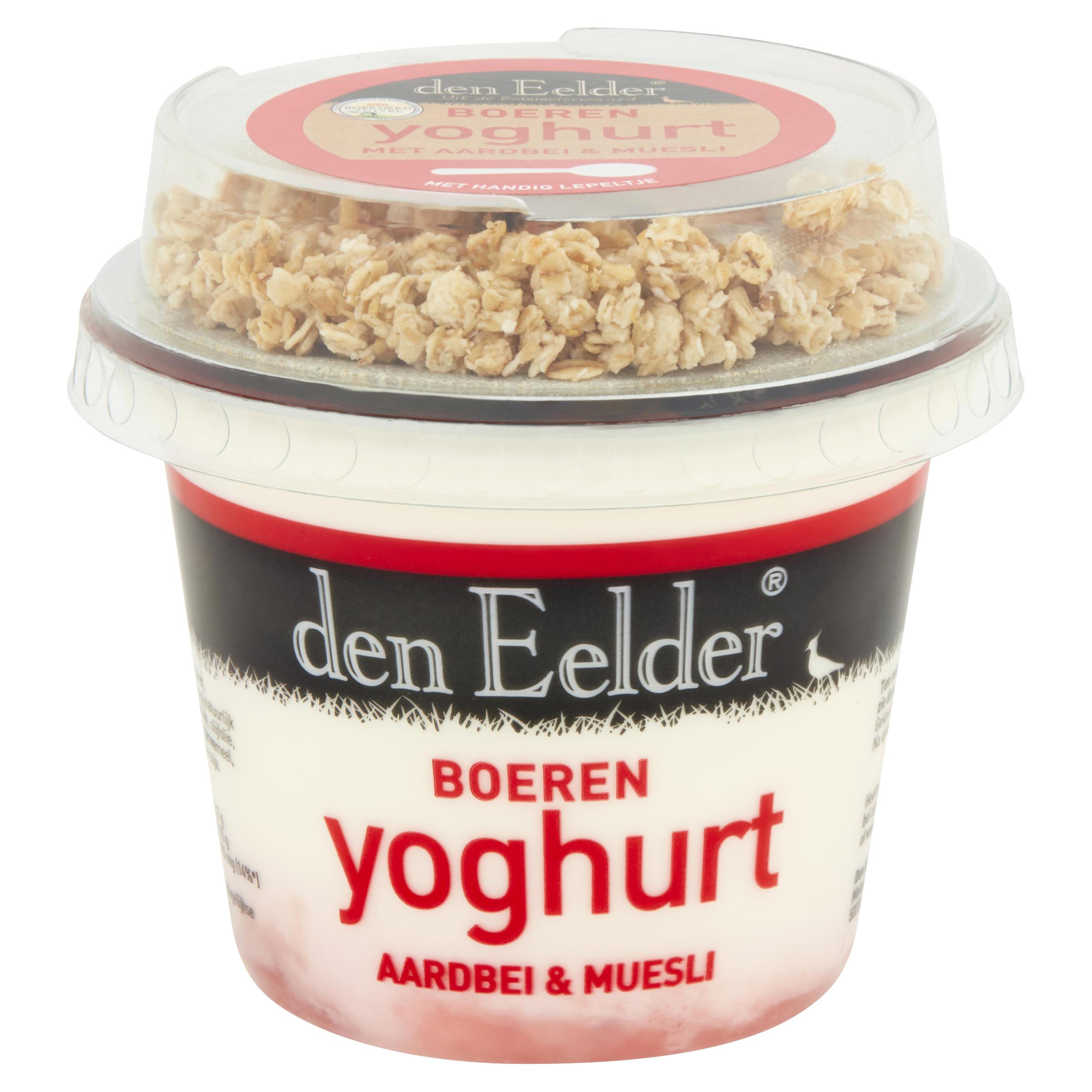 boeren yoghurt met aardbei & muesli