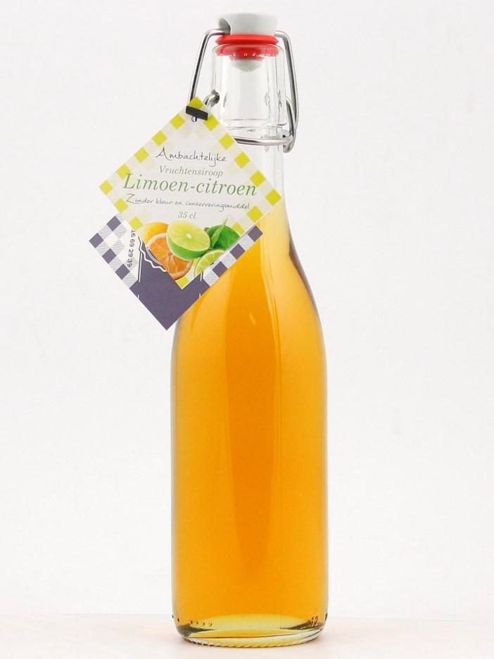 Weckfles vruchtensiroop limoen-citroen