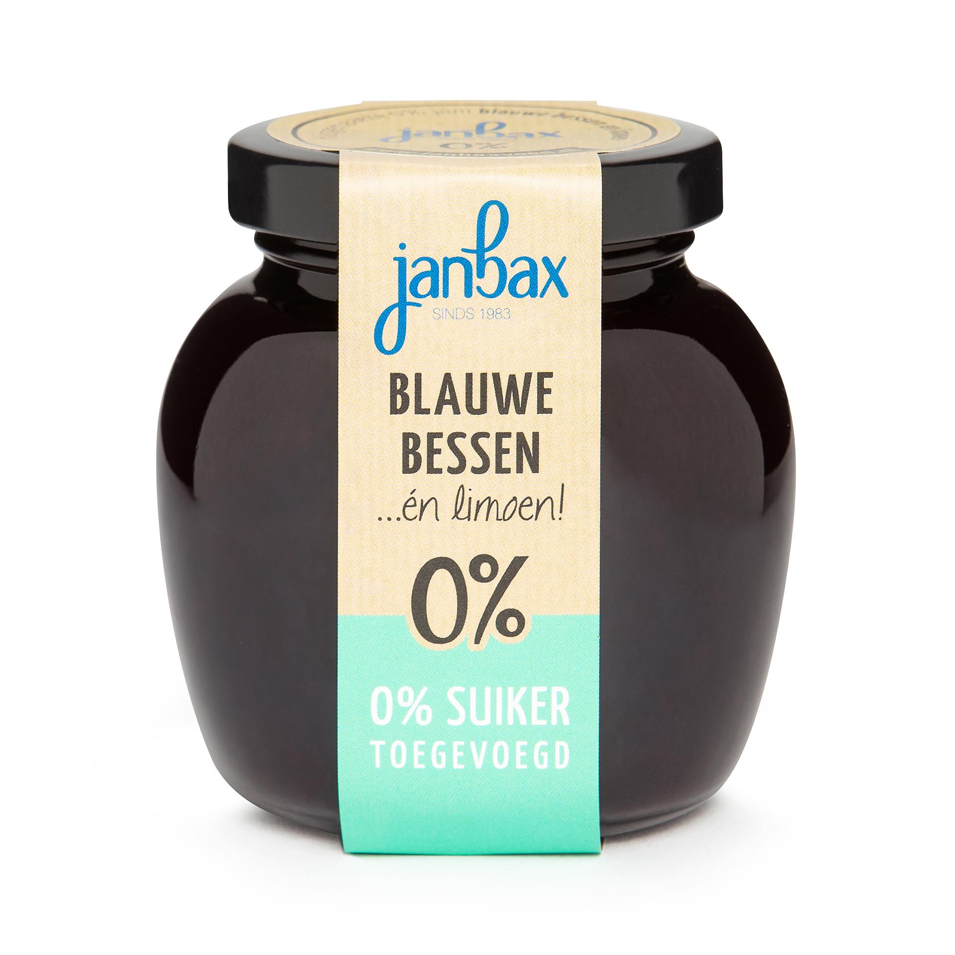 Intense 0% jam bl. bessen-limoen zonder toegevoegd suiker