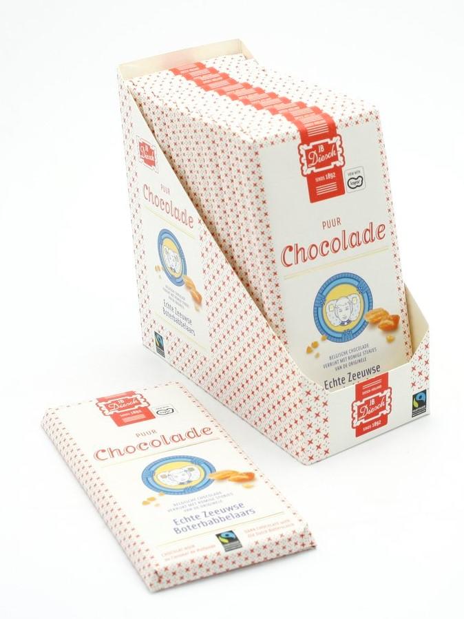 Chocoladereep met babbelaar puur