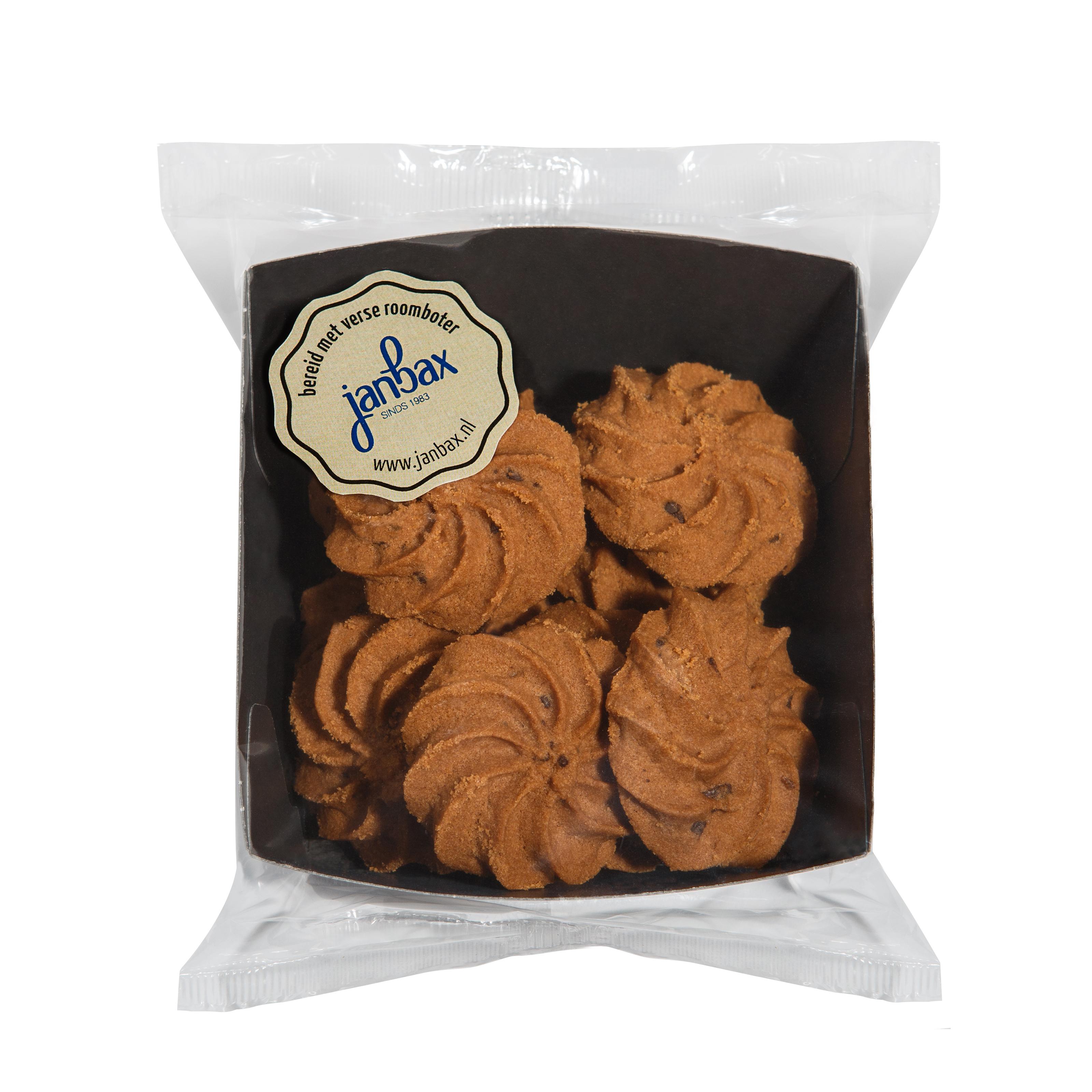 roomboterkoekjes chocolade rozetten [THT 4-6 mnd]