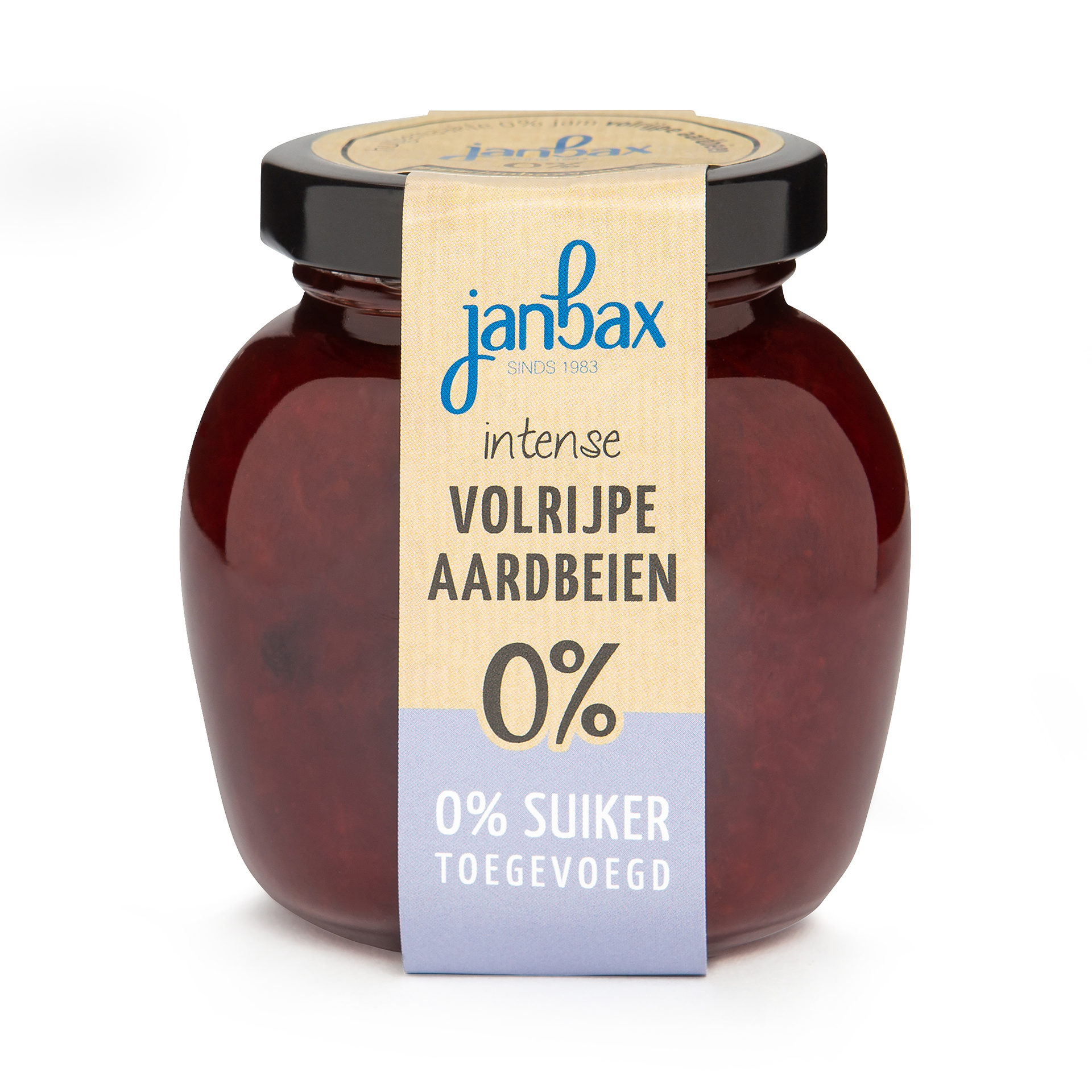 Intense 0% jam aardbeien zonder toegevoegd suiker